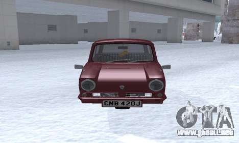 Reliant Regal Sedan para GTA San Andreas left