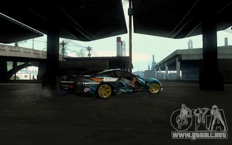 Toyota Supra Gorilla Energy GT-Shop para GTA San Andreas left