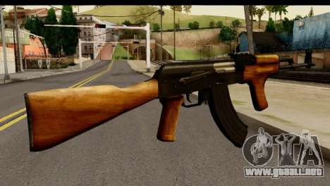 Modified AK47 para GTA San Andreas segunda pantalla