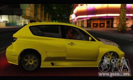 Mazda Speed 3 Tuning para la visión correcta GTA San Andreas