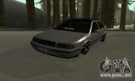 Skoda Octavia Winter Mode para vista inferior GTA San Andreas