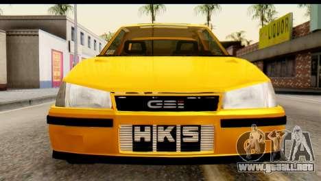 Opel Kadett GSI Drag 2015 para la visión correcta GTA San Andreas