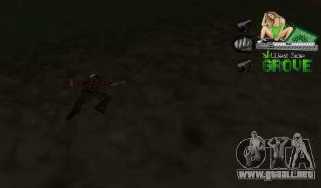 C-HUD Groove St. Family para GTA San Andreas tercera pantalla