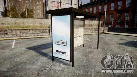 Publicidad de Windows 95 en las paradas de autob para GTA 4 tercera pantalla