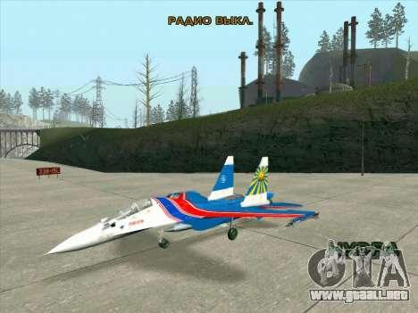 SU-30 MK 2 para GTA San Andreas left