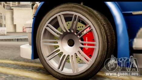 BMW M3 E46 GTR NFS MW para GTA San Andreas vista posterior izquierda