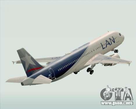 Airbus A320-200 LAN Argentina para la vista superior GTA San Andreas