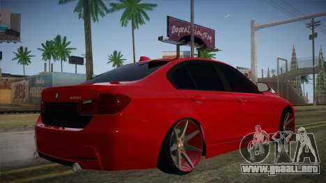 BMW 335i para GTA San Andreas left