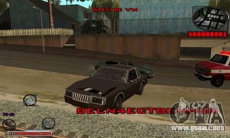 Hermosa C-HUD para GTA San Andreas segunda pantalla