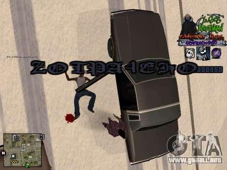 C-HUD Les Alterman para GTA San Andreas quinta pantalla