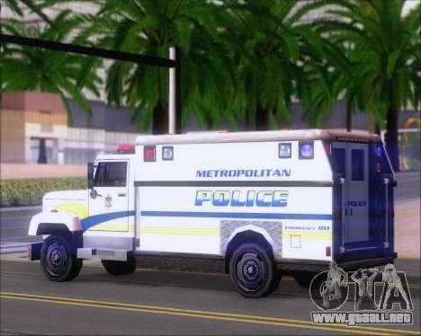 Enforcer Metropolitan Police para la visión correcta GTA San Andreas