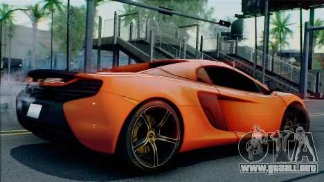 McLaren 650S Spider 2014 para GTA San Andreas vista posterior izquierda