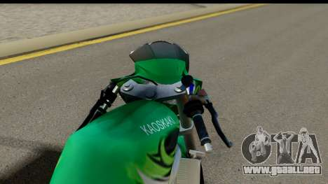 Kawasaki Ninja R Drag para GTA San Andreas vista posterior izquierda