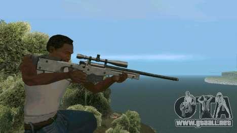 Metal AWP L96A1 para GTA San Andreas sucesivamente de pantalla