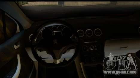Peugeot 308 ENS Tuning para GTA San Andreas vista hacia atrás