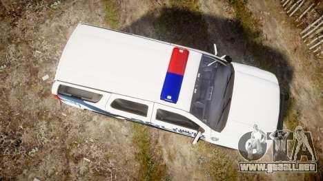 Chevrolet Tahoe 2010 LCPD [ELS] para GTA 4 visión correcta