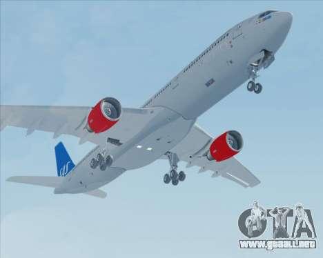 Airbus A330-300 Scandinavian Airlines para vista lateral GTA San Andreas