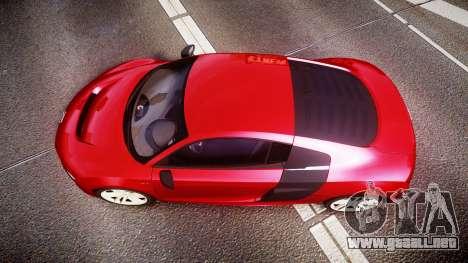 Audi R8 E-Tron 2014 para GTA 4 visión correcta
