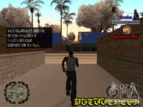 C-HUD Bomj Gang para GTA San Andreas segunda pantalla