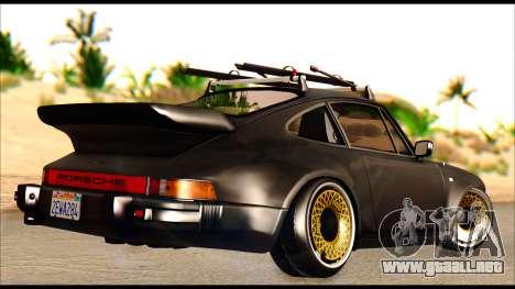 Porsche 911 1980 Winter Release para GTA San Andreas vista posterior izquierda