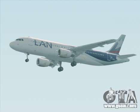 Airbus A320-200 LAN Argentina para GTA San Andreas vista hacia atrás