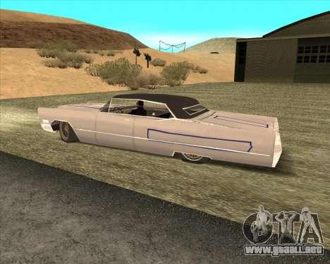 Cadillac DeVille Lowrider 1967 para visión interna GTA San Andreas