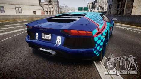 Lamborghini Aventador 2012 [EPM] Miku 3 para GTA 4 Vista posterior izquierda