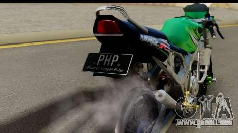 Kawasaki Ninja R Drag para la visión correcta GTA San Andreas