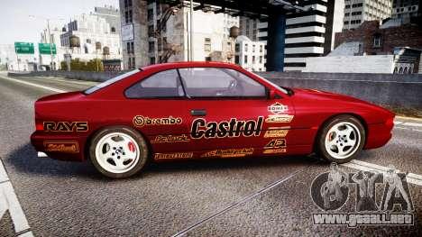 BMW E31 850CSi 1995 [EPM] Castrol Red para GTA 4 left