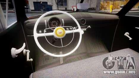 Ford Custom Tudor 1949 para GTA 4 vista interior
