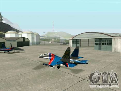 SU-30 MK 2 para GTA San Andreas vista hacia atrás