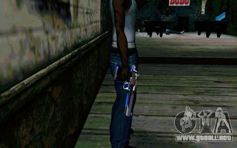 Blue Dragon Deagle para GTA San Andreas segunda pantalla