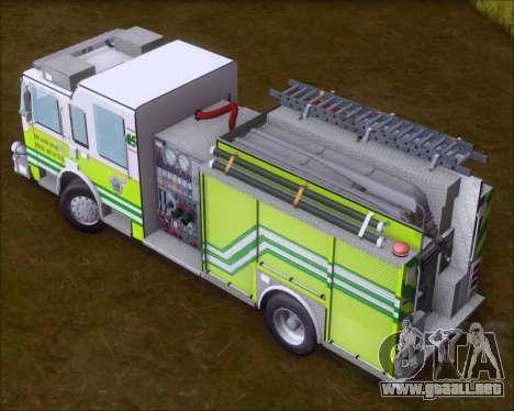 Pierce Arrow XT Miami Dade FD Engine 45 para visión interna GTA San Andreas