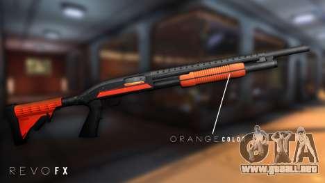 Orange Shotgun para GTA San Andreas segunda pantalla