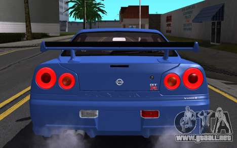 Nissan Skyline GT-R V Spec II 2002 para el motor de GTA San Andreas