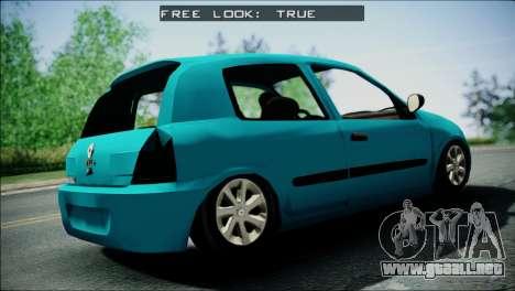 Renault Clio Beta v1 para GTA San Andreas vista posterior izquierda