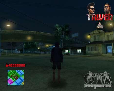 C-HUD Tawer By Flocky para GTA San Andreas tercera pantalla