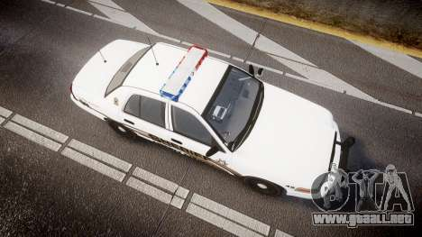 Ford Crown Victoria LCSO [ELS] Edge para GTA 4 visión correcta