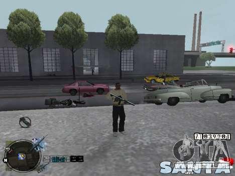 C-HUD Santa para GTA San Andreas segunda pantalla