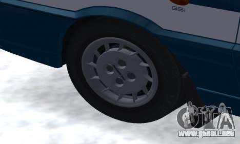 Daewoo-FSO Polonez Kombi 1.6 GSI Police 2000 para vista inferior GTA San Andreas