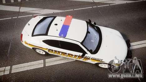 Dodge Charger 2006 Sheriff Liberty [ELS] para GTA 4 visión correcta