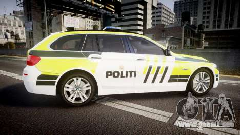 BMW 530d F11 Norwegian Police [ELS] para GTA 4 left