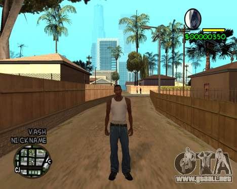 C-HUD by Tawerhudov para GTA San Andreas tercera pantalla
