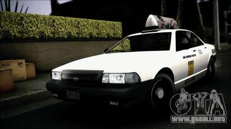 Taxi Vapid Stanier II from GTA 4 IVF para la vista superior GTA San Andreas