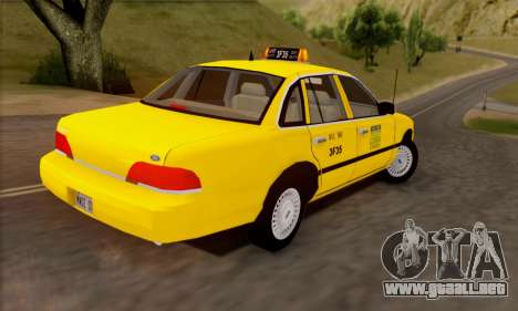 Ford Crown Victoria NY Taxi para visión interna GTA San Andreas