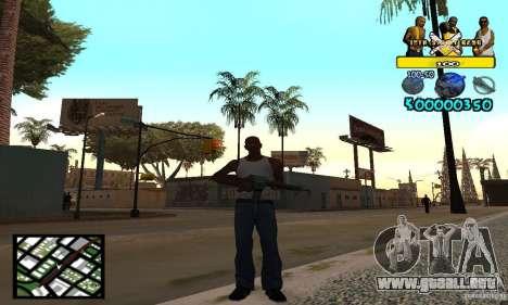 Tawer Getto HUD para GTA San Andreas segunda pantalla