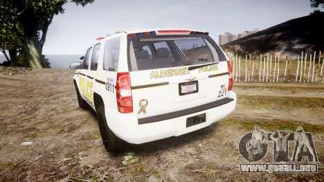 Chevrolet Tahoe 2010 Police Alderney [ELS] para GTA 4 Vista posterior izquierda