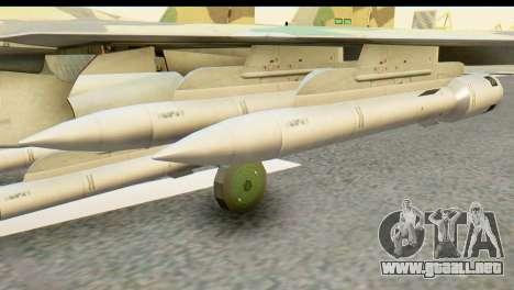 SU-35 Flanker-E ACAH para GTA San Andreas vista posterior izquierda