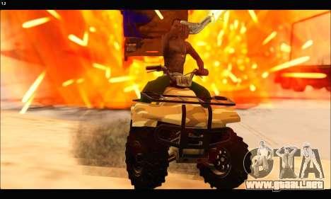 ATV Army Edition v.3 para visión interna GTA San Andreas