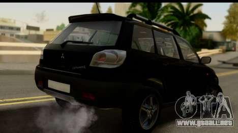 Mitsubishi Outlander para GTA San Andreas left